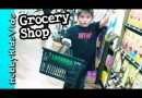 Shopping for Cereal + EggNog! Peppermint Candy Organic Samples by HobbyKidsVids