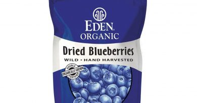 Eden Foods Dried Wild Blueberries Organic – 4 Oz – Pack of 15