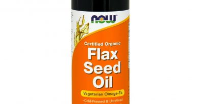 NOW Foods Flax Seed Oil, Certified Organic, 12 fl. oz.