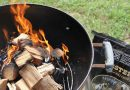 Natural Wood cooking on a Charcoal Grill