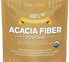 Organic Acacia Fiber Powder (30 Ounce): Natural, Whole Food, Plant Based Preb