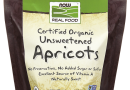 NOW Foods Dried Apricots, Organic – 16 oz. Pack of 4