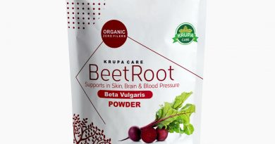 KRUPACARE Premium Organic Red Beet Root  Powder 4,8,16 Oz super food