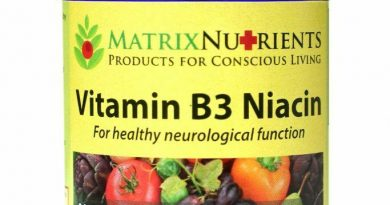 Whole Food Organic B3 Niacin Supplement by Matrix Nutrients