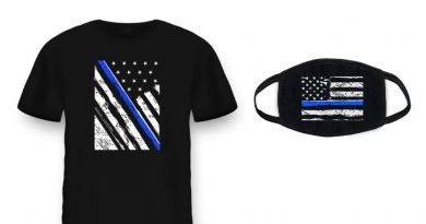 "Health Ranger Store launches PRO-POLICE ""Thin Blue Line"" T-shirts and masks – declare your support for COPS who keep us SAFE – NaturalNews.com"