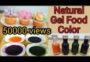 100% Natural Gel Food Color/How to Make Organic Food Colors at Home