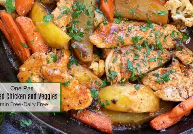 One Pan Braised Chicken and Vegetables